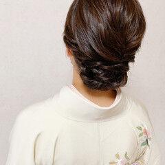 訪問着 エレガント 結婚式 振袖ヘア ヘアスタイルや髪型の写真・画像