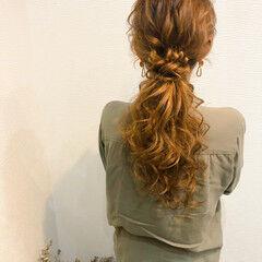 ローポニー ポニーテール ポニーテールアレンジ ヘアセット ヘアスタイルや髪型の写真・画像