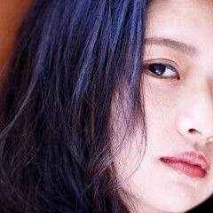 黒髪 ロブ ミディアムヘアー ミディアム ヘアスタイルや髪型の写真・画像