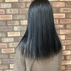 ナチュラル セミロング 艶髪 透明感 ヘアスタイルや髪型の写真・画像