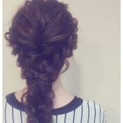 フォーマル 簡単ヘアアレンジ ショート 編み込み ヘアスタイルや髪型の写真・画像