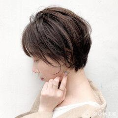 オーガニックカラー ショコラブラウン ナチュラル 大人女子 ヘアスタイルや髪型の写真・画像