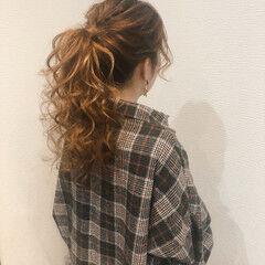 ポニーテールアレンジ ロング ポニーテール ヘアアレンジ ヘアスタイルや髪型の写真・画像