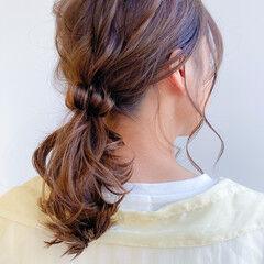 愛され ポニーテール レイヤーカット ナチュラル ヘアスタイルや髪型の写真・画像