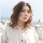 ゆるふわパーマ 360度どこからみても綺麗なロングヘア ミディアム 韓国ヘア