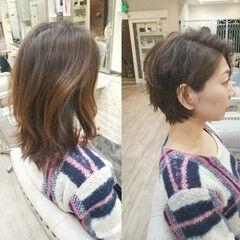 アンニュイ 小顔 かっこいい ナチュラル ヘアスタイルや髪型の写真・画像