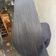 コリアンカラー ダークグレー トリートメント ダークトーン ヘアスタイルや髪型の写真・画像