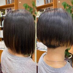 ショート 刈り上げショート 前下がりヘア モード ヘアスタイルや髪型の写真・画像