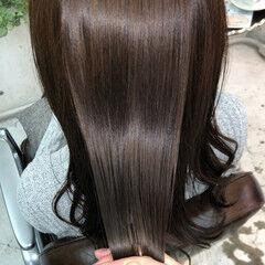 髪質改善トリートメント セミロング 縮毛矯正 ナチュラル ヘアスタイルや髪型の写真・画像