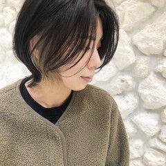 ストリート ショートヘア インナーカラー ショート ヘアスタイルや髪型の写真・画像
