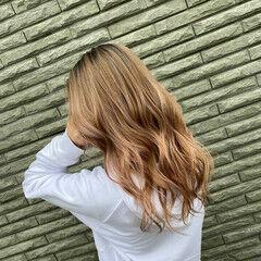 ストリート 外国人風カラー ミルクティーベージュ ロング ヘアスタイルや髪型の写真・画像