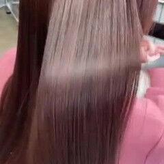 艶髪 プリンセストリートメント ピンク ロングヘアスタイル ヘアスタイルや髪型の写真・画像