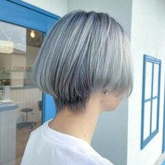 ショート モード ブリーチ必須 ホワイトブリーチ ヘアスタイルや髪型の写真・画像