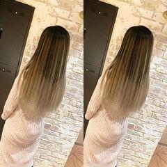 バレイヤージュ ナチュラル ブリーチ 透明感 ヘアスタイルや髪型の写真・画像