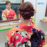 着物 結婚式 ヘアアレンジ アップスタイル