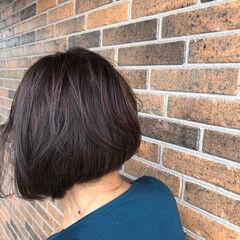 ボブ ブラウン 前下がり ショートボブ ヘアスタイルや髪型の写真・画像