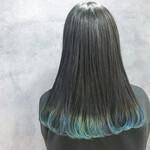 グラデーションカラー 裾カラー 暗髪 モード