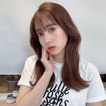 韓国ヘア セミロング 透明感 韓国