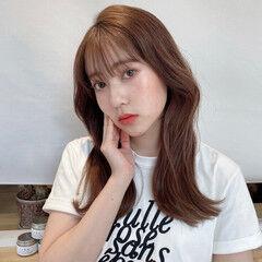 韓国ヘア セミロング 透明感 韓国 ヘアスタイルや髪型の写真・画像