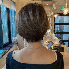 ショート 透明感カラー ショートボブ ハイトーンカラー ヘアスタイルや髪型の写真・画像