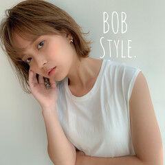 切りっぱなしボブ オシャレ トレンド ボブ ヘアスタイルや髪型の写真・画像