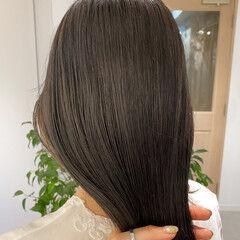 ナチュラル 暗髪 透明感カラー ベージュカラー ヘアスタイルや髪型の写真・画像