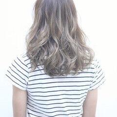 ガーリー ニュアンス グラデーションカラー セミロング ヘアスタイルや髪型の写真・画像