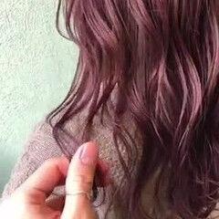 ブリーチカラー ダブルカラー イルミナカラー パープルカラー ヘアスタイルや髪型の写真・画像