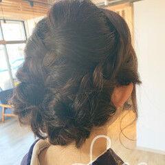 セミロング 和装髪型 和装ヘア 和装 ヘアスタイルや髪型の写真・画像