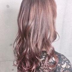 透明感カラー ピンク 大人可愛い ヘアカラー ヘアスタイルや髪型の写真・画像