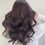 ロング 艶髪 ヘアセット フェミニン