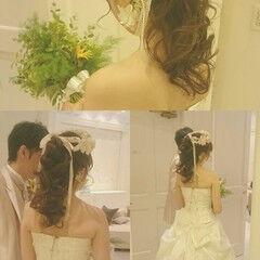 ヘアアレンジ ドレス ロング ゆるふわ ヘアスタイルや髪型の写真・画像