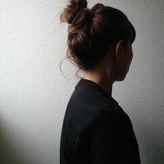 ナチュラル フェス ミディアム お団子 ヘアスタイルや髪型の写真・画像