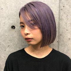 ブリーチ モード ハイライト ボブ ヘアスタイルや髪型の写真・画像