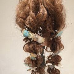 ゆるふわ パーティ ツインテール ヘアアレンジ ヘアスタイルや髪型の写真・画像