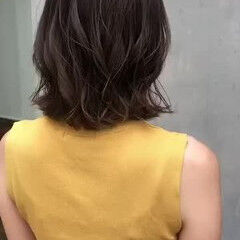 アンニュイほつれヘア 黒髪 切りっぱなしボブ デート ヘアスタイルや髪型の写真・画像