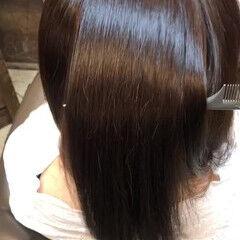 セミロング 小顔ヘア ツヤツヤ 美髪 ヘアスタイルや髪型の写真・画像