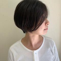 ナチュラル ショート 前髪なし 大人ショート ヘアスタイルや髪型の写真・画像