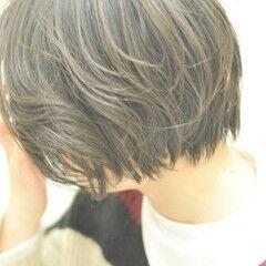 前下がり 美シルエット かっこいい パーマ ヘアスタイルや髪型の写真・画像