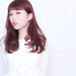 前髪あり ロング グラデーションカラー ハイライト