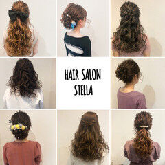 ポニーテール フェミニン アップスタイル ハーフアップ ヘアスタイルや髪型の写真・画像