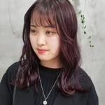 レッドカラー 韓国 赤髪 ガーリー
