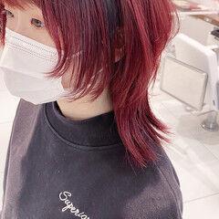 マッシュウルフ ウルフレイヤー ウルフカット ストリート ヘアスタイルや髪型の写真・画像