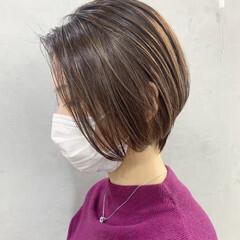 ショート ミニボブ ナチュラル ショートヘア ヘアスタイルや髪型の写真・画像