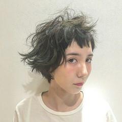 ロック ストリート アッシュ ショート ヘアスタイルや髪型の写真・画像