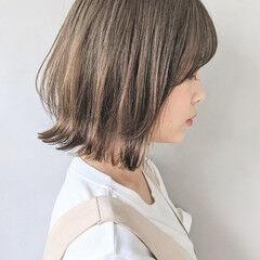 大人かわいい ボブ ミニボブ インナーカラー ヘアスタイルや髪型の写真・画像