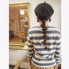 ロング 黒髪 ヘアアレンジ ナチュラル ヘアスタイルや髪型の写真・画像