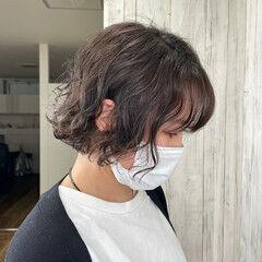 パーマ ゆるふわパーマ モテ髪 ボブ ヘアスタイルや髪型の写真・画像