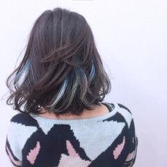 パンク インナーカラー グラデーションカラー モード ヘアスタイルや髪型の写真・画像