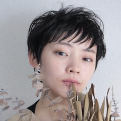 黒髪ショート ショートヘア ショート ナチュラル ヘアスタイルや髪型の写真・画像
